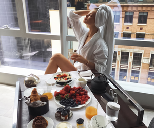 breakfast, coffee, and girl image
