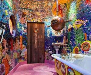 bathroom, beatles, and yellow submarine image