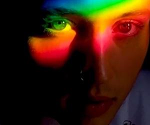 troye sivan, rainbow eyes, and rainbow aesthetic image