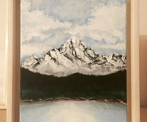 acrylic, art, and lake image