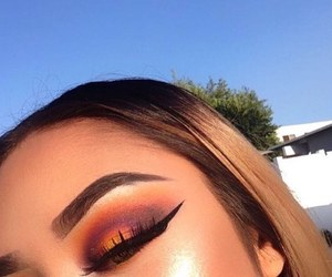 eyebrows, makeup, and eyeliner image