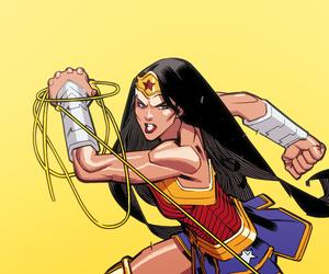 comics, diana of themyscira, and wonder woman image