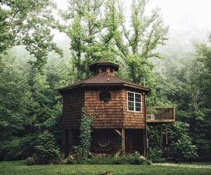 house and woods image