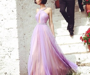 dress, purple, and beauty image
