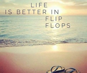 beach and flip flops image