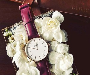 elegant, flowers, and watch image