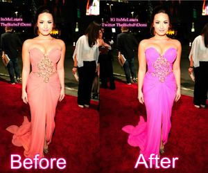 before and after, photoshop, and demi lovato image