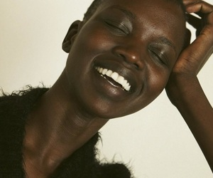 black beauty, dark skin, and black models image