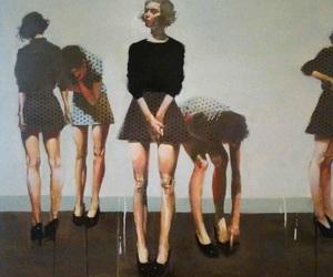 girl, art, and legs image