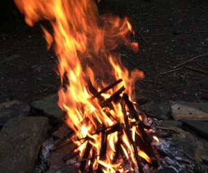 campfire, fire, and flames image