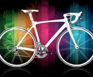 bicycle, bike, and colourful image