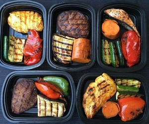 food, healthy, and lunch box image