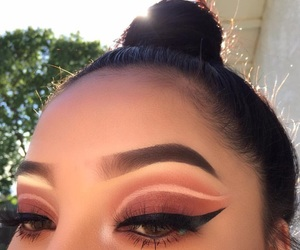 beauty, eye, and makeup image