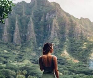 girl, green, and hawaii image