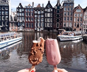 ice cream, food, and amsterdam image