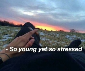 stressed and young image