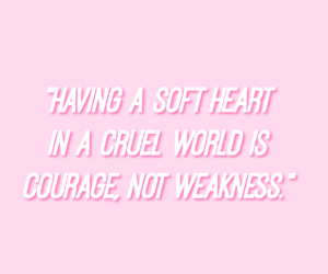 pink, soft, and soft heart image