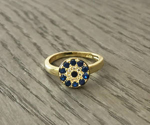etsy, evil eye ring, and gold ring image
