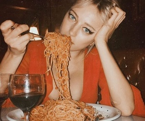 girl and pasta image
