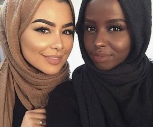 girl, hijab, and beauty image
