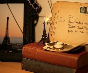 book, paris, and vintage image