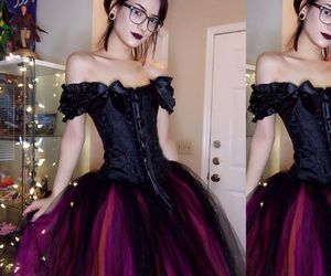 gothic dress, gothic prom dress, and droseblooming image