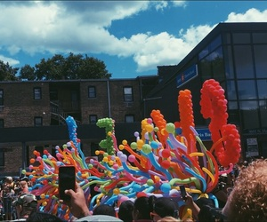 balloons, chicago, and colours image