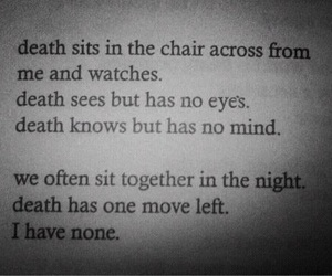 death, quote, and depression image