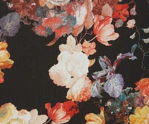 flowers, background, and vintage image