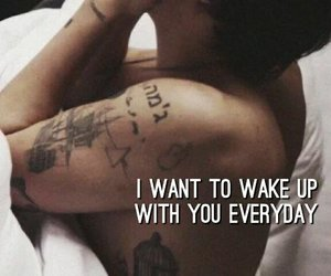 bed, sexy, and wake up image