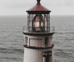 lighthouse, sea, and ocean image