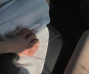 couple, hand holding, and korean couple image