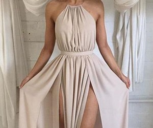 evening dress, sexy, and sexy prom dress image