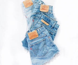 clothes, cut offs, and denim image