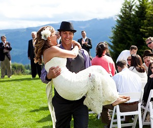 barefoot, groom, and mountain image