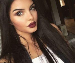 girl, beauty, and lips image