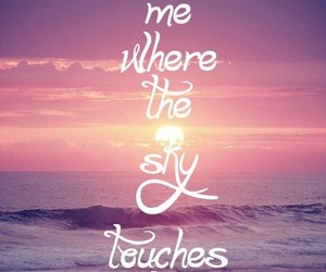 sea, quotes, and sky image