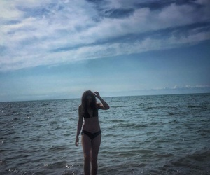 beach, summer, and body image