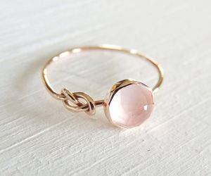 ring, pink, and accessories image