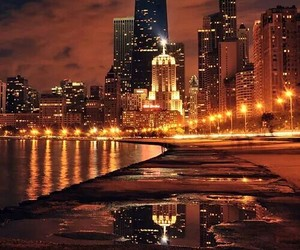 art, chicago, and city image