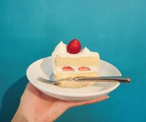 beautiful, blue, and cake image