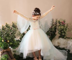 asymmetrical, girls, and tulle image