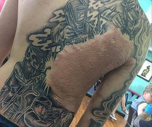 scar and tattoo image