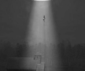 alien, ufo, and abduction image