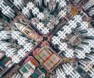 amazing, city, and drone image