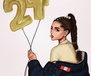 art, drawing, and ariana grande image