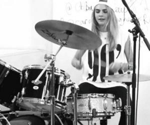 cara delevingne, model, and drums image
