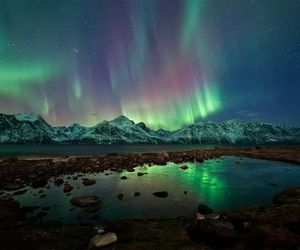 northern lights, aurora, and nature image