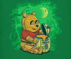 winnie the pooh, star wars, and c3po image