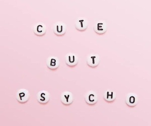 pink, Psycho, and cute image